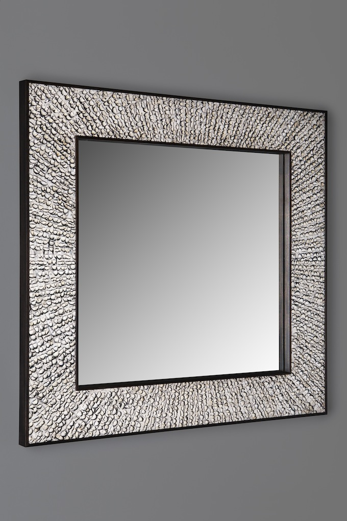 Mirror in pheasant feathers for Mirror 42 x 36